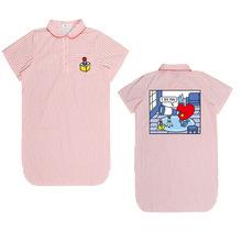BTS官方同款睡衣防弹少年团睡裙条纹短袖T恤家居服衬衫连衣裙女装