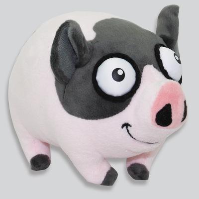 韩国精品大眼花猪毛绒玩具 站姿猪猪公仔定制 仿真玩偶厂家直销
