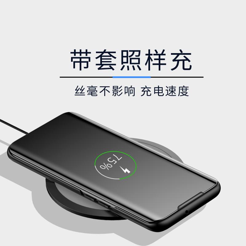 新款三星NOTE10 Pro立式套S10+电镀免翻盖镜面手机壳S10E全视窗