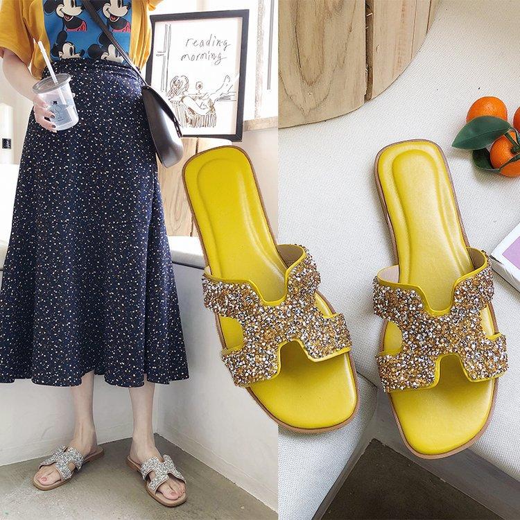 2019 summer new women's shoes student fl...