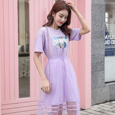 货源连衣裙夏2020网红韩国东大门仙女裙夏季两件套新款一件代发女装批发