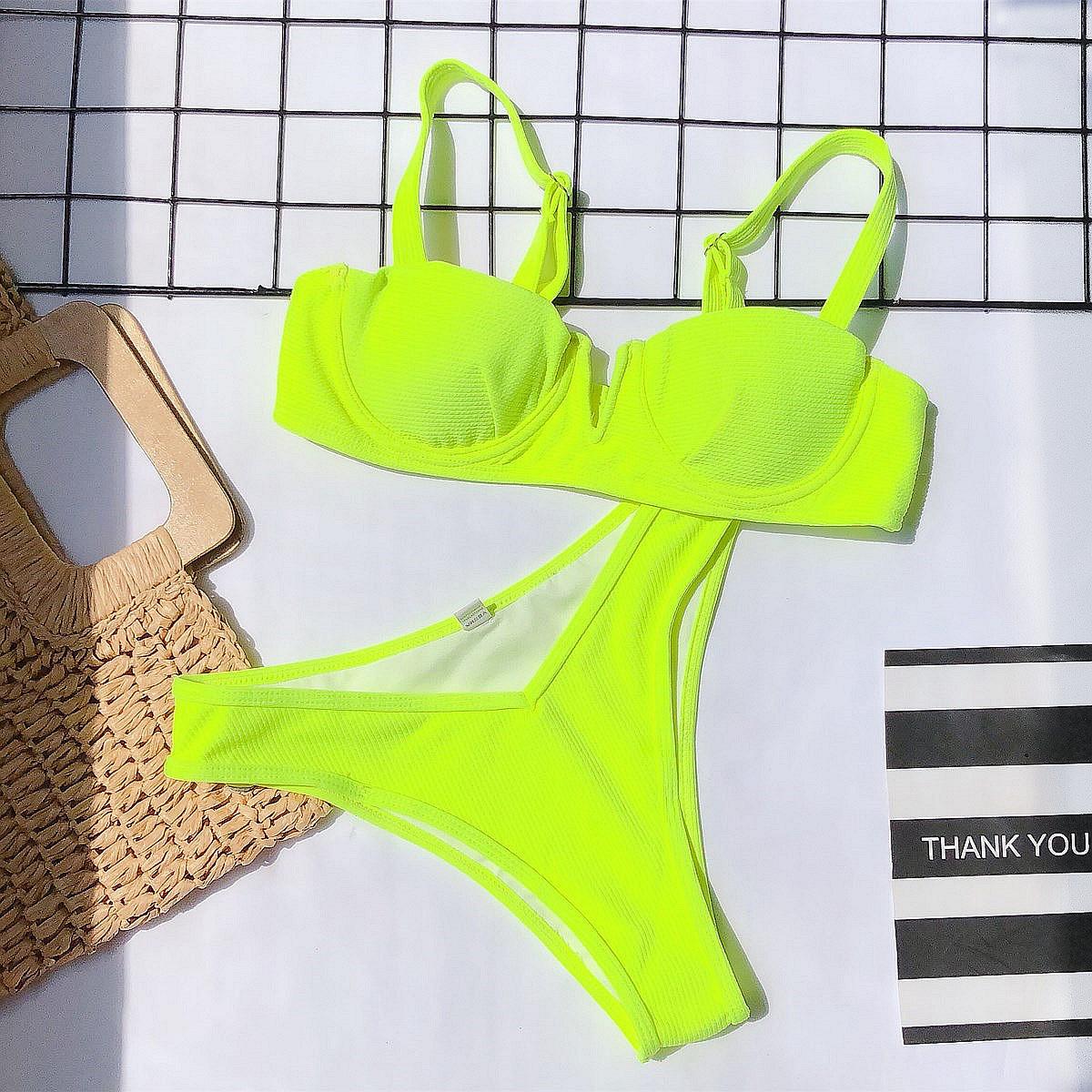 Hot selling fashion ladies split swimsuit bikini  NSDA1217