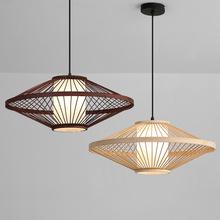 現代中式竹子吊燈竹藝燈具餐廳吧臺竹子燈過道走廊禪意竹編小吊燈