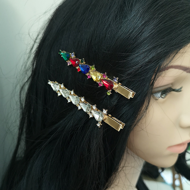 Womens Geometric Rhinestone Alloy Hair clip NHJJ121638