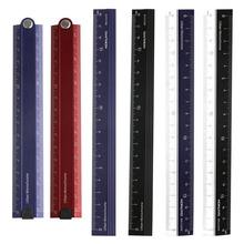 日本国誉折叠铝制尺子小学生用便携式金属不锈钢直尺