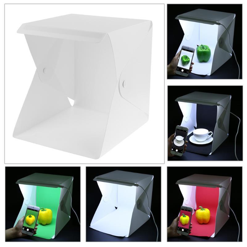 20 سم ضوء LED صغير استوديو صغير صندوق ناعم محمول صندوق إضاءة قابل للطي صور الدعائم