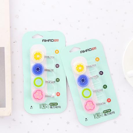 B98 sở thích móc mạnh dễ thương chua ngọt cay cay phong cách sáng tạo móc ba thẻ nhựa nạp 4 vào