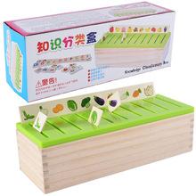 木质形状配对积木知识分类盒儿童早教益数字水果汉字认知玩具批发