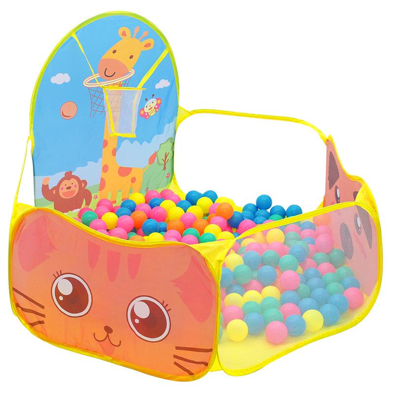 儿童帐篷游戏屋室内外折叠式卡通海洋球池可投篮长颈鹿帐篷屋玩具