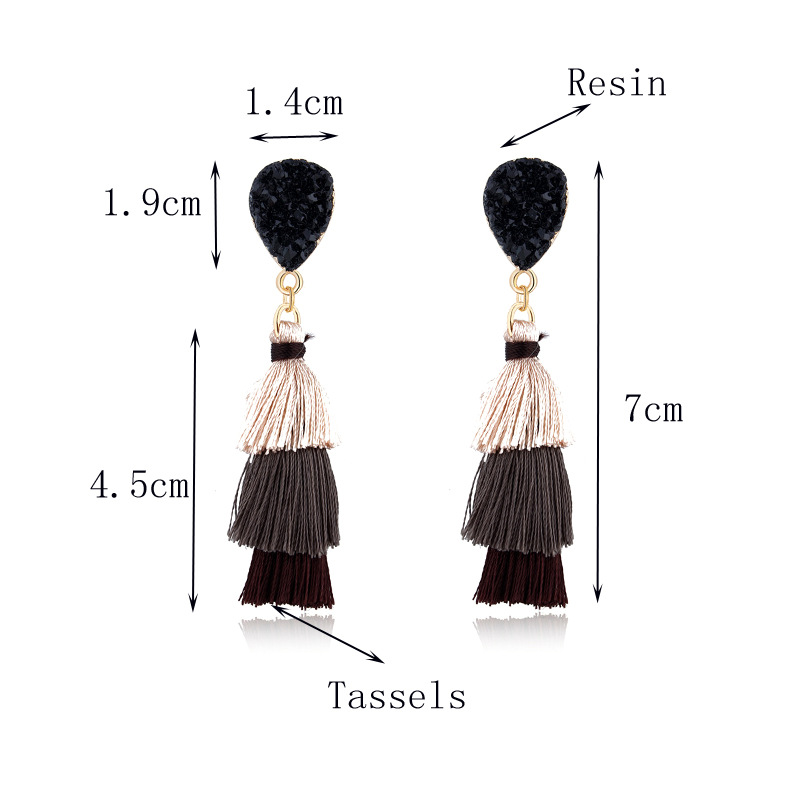 Fashion new long tassel earrings NHGO143211