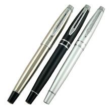 供应不锈钢管喷漆目铬宝珠笔 金属银色水笔 全钢水笔