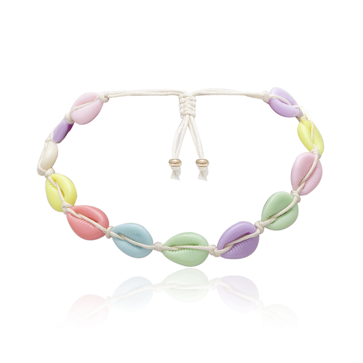 Creative Ocean Wind Color Shell Necklace NHXR146652