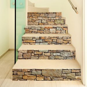 Creative self-adhesive staircase stickers living room DIY decorative home waterproof wall stickers
