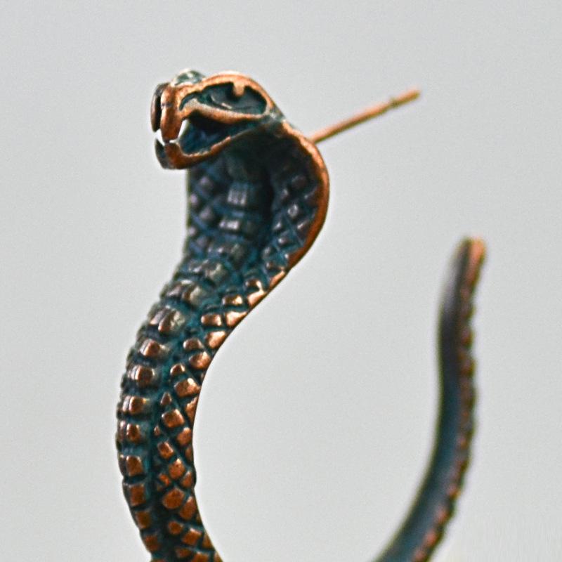 Fashion trend especial all-match earrings  snake-shaped earrings long snake earrings wholesale nihaojewelry NHOA236593