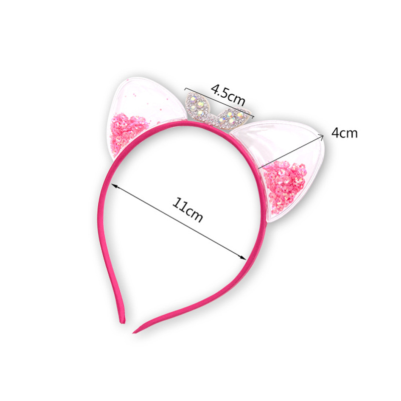 Korean children cute cat ears cheap headband wholesale NHNA207437