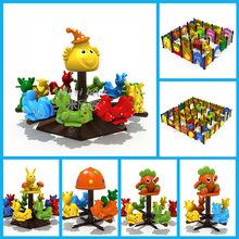 幼兒園大小型迷宮戶外旋轉木馬卡通塑料小鹿轉盤兒童手推轉轉椅