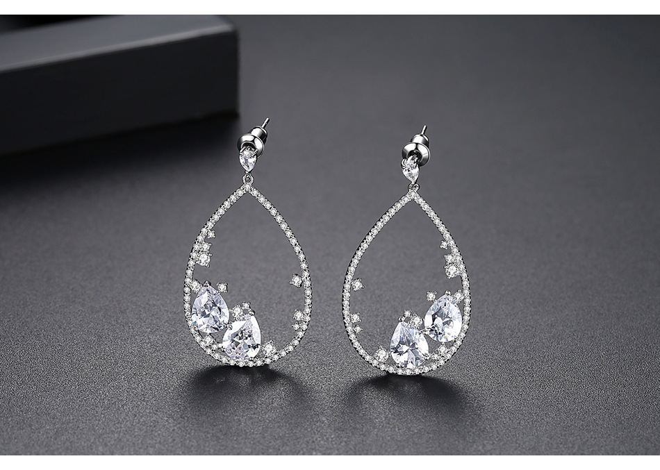 Alloy Vintage Geometric earring  (Platinum-T02A15)  Fashion Jewelry NHTM0665-Platinum-T02A15
