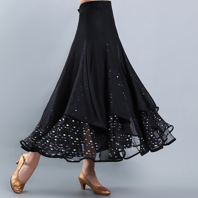 Ballroom dance skirts for women Modern dance skirt ballroom dance half skirt square dance national standard dance practice skirt