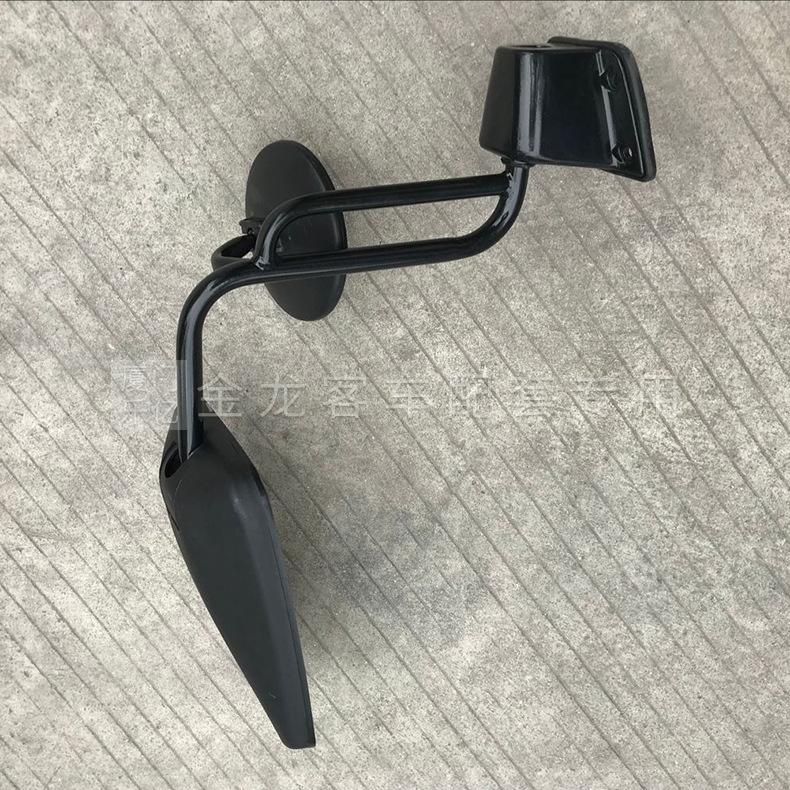 厦门金龙旅行车倒车镜后视镜总成 左边带杆倒车镜 批发原厂倒车镜