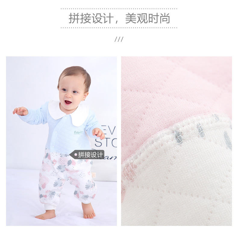 Baby onesies winter newborn clothes quilted warm romper 0-1y baby clothes cotton NHQE180546