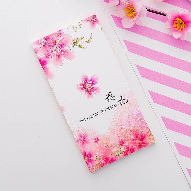 Hoa anh đào dài đơn giản có thể được xé giấy ghi chú ngang dòng giấy ghi chú trống với một cuốn sổ tay ghi sổ nhỏ