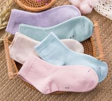 厂家批发袜子儿童全棉中筒袜纯色童袜吸汗防臭1-12岁男女童袜春夏