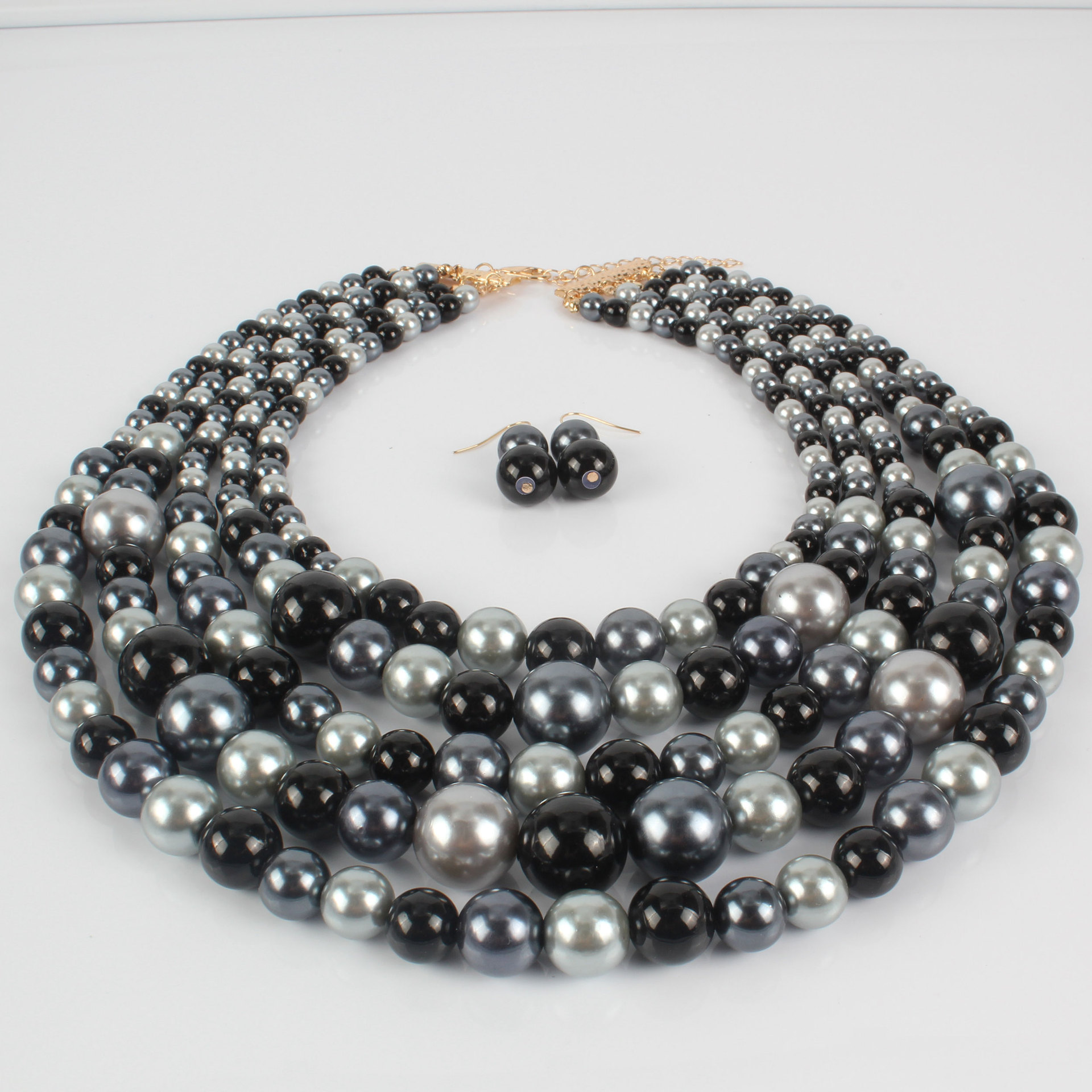 Womens geometric beads beaded beaded Necklaces CT190505120159