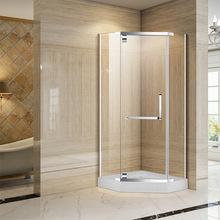 淋浴房工程酒店定制钻石型不锈钢平开门卫生间玻璃沐浴佛山厂家