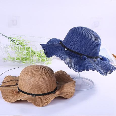 Mũ mùa hè mới mũ phụ nữ chống nắng mũ mặt trời Hàn Quốc kỳ nghỉ bên bờ biển mũ rơm ngoài trời thủy triều lớn