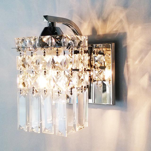 美式乡村单头壁灯欧式客厅卧室床头墙灯新款复古铁艺蜡烛水晶壁灯