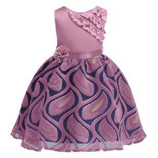 Cross-border ins children's custom dress dress new dress dress embroidered princess dress one drop delivery