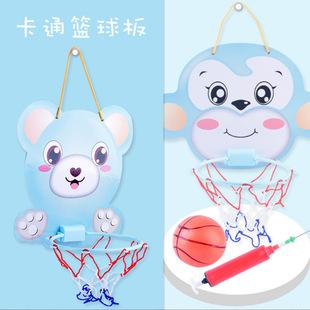 Крест граница ребенок мультфильм про животных баскетбол доска винни небольшой обезьяна подвеска баскетбол ребенок физическая культура фитнес в корзину игрушка
