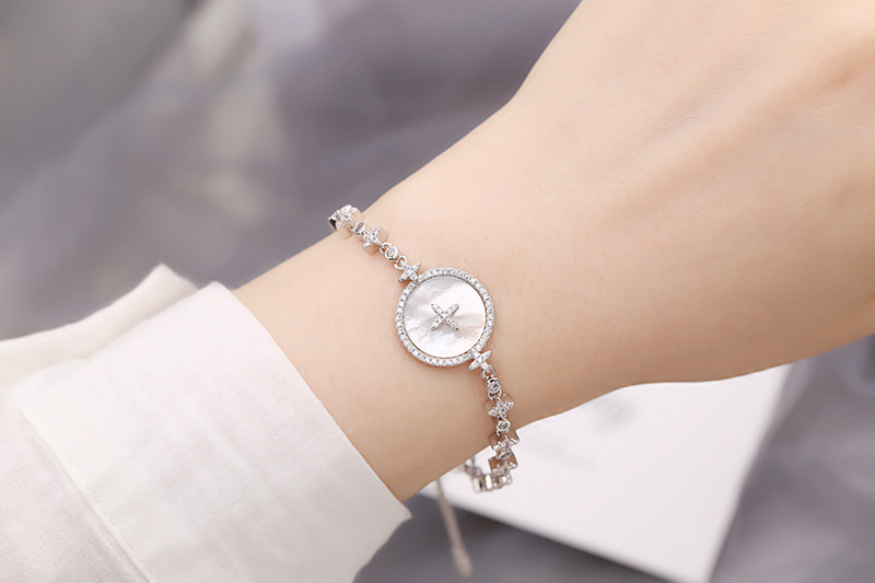 Fashion micro-inlaid zircon star mother-of-beads bracelet NHDO129042