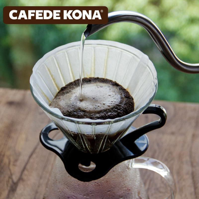 CAFEDE KONA اليد يخمر القهوة بالتنقيط كأس على شكل V مرشح ورقة اليابانية هريس V60 مرشح كوب مع 40 قطعة