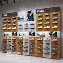 Cửa hàng giày dép giá hiển thị đứng kết hợp miễn phí cửa hàng độc quyền giày kệ tường trung tâm mua sắm giày trưng bày Đạo cụ trưng bày quần áo