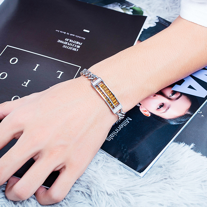 Stylish stainless steel dialable abacus bracelet NHOP156047