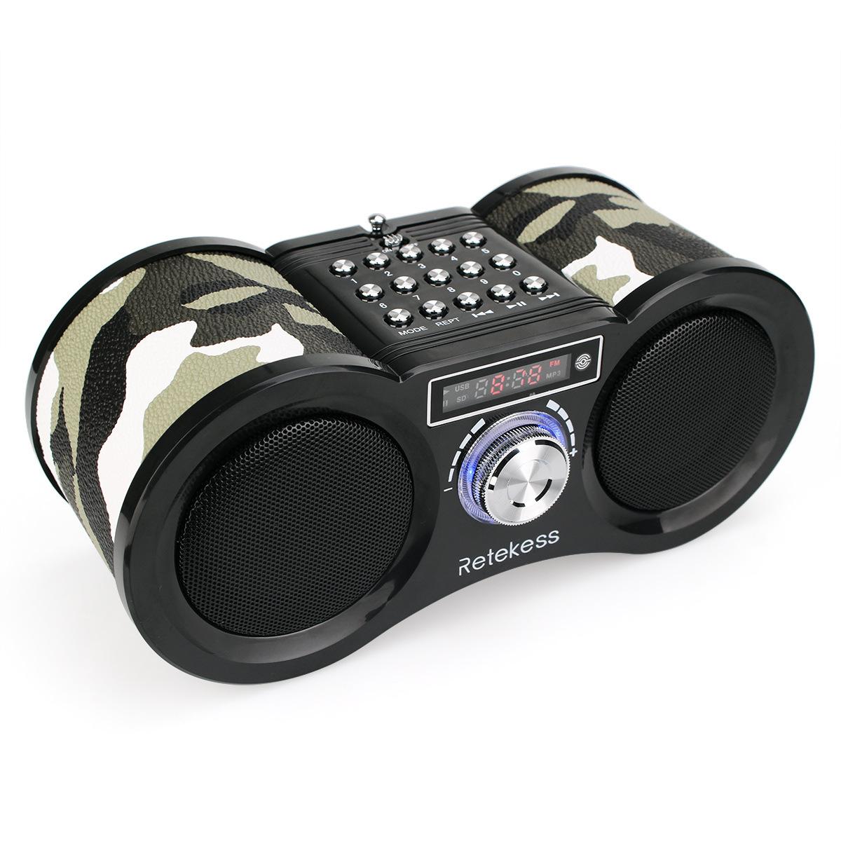 Retekess V113收音机带音箱 可插卡 锂电池