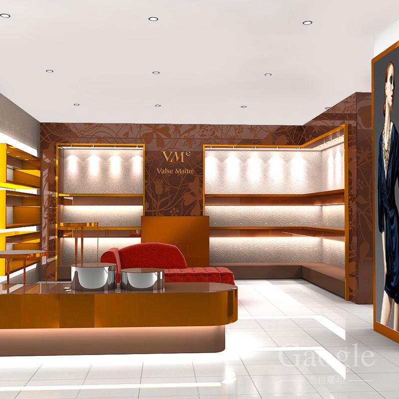 高档烫金雕花展示架  定制精品陈列柜 专业设计生产异性中岛柜