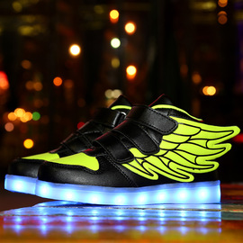 Street popular sports shoes, men's and women's school casual shoes, night glowing shoes, USB charging LED lighting shoes