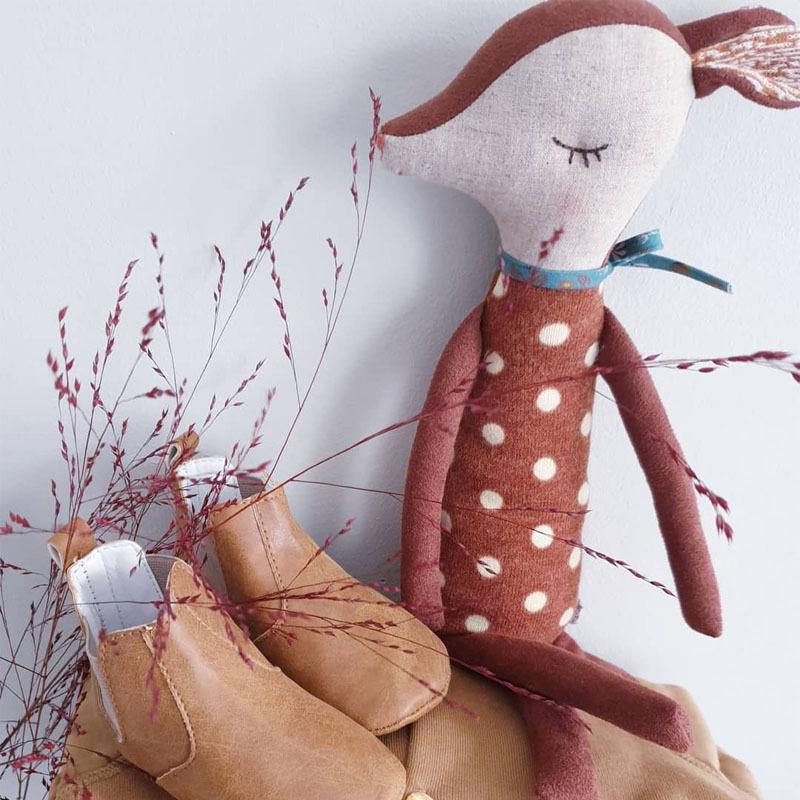 可爱斑比鹿公仔毛绒玩具男女孩生日礼物宝宝安抚床上睡觉小玩偶