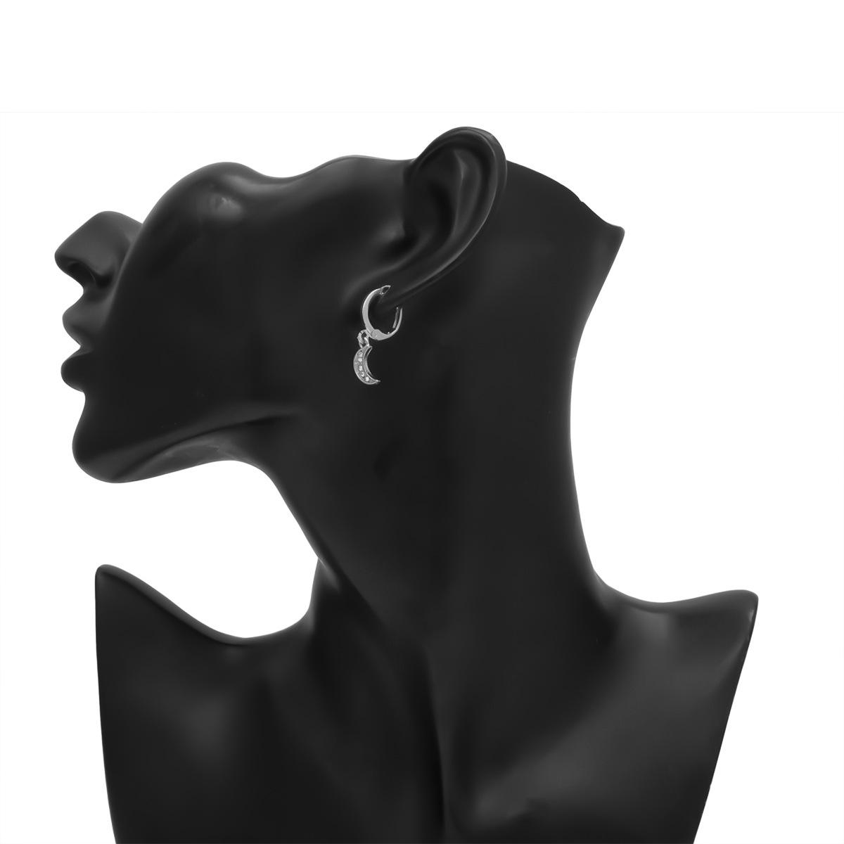 Pendientes largos geométricos de perlas de imitación de temperamento NHXR158287