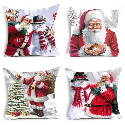18'' Cushion Cover Pillow Case Christmas pillow cover holiday home sofa cushion cover support customization