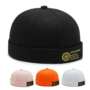 New fashion four seasons landlord hat male street hipster hip-hop hat no eaves melon hat female light board hat female trend