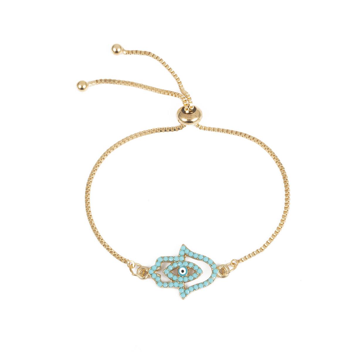 Fashion creative simple bergamot eye metal bracelet NHXR133980