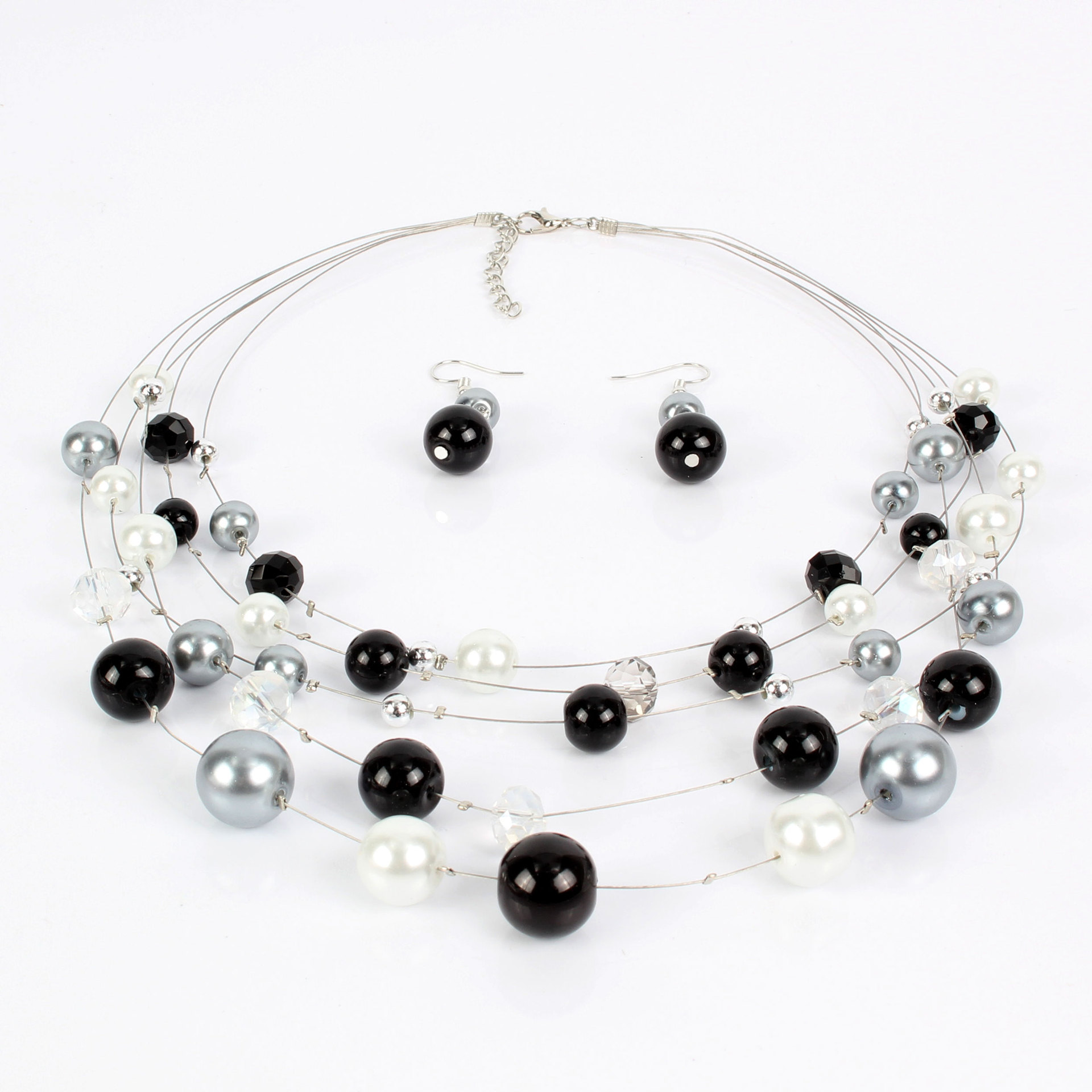 Womens Geometric Beads Simple clavicle chain Necklaces CT190416117631