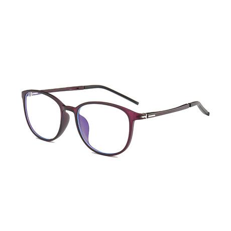 Thời trang mới chống kính xanh tr90 kính gọng kính unisex học sinh tròn gương phẳng bán buôn Khung