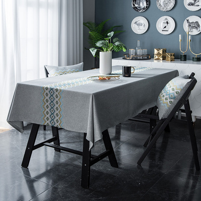 Tablecloth table cloth table cover Waterproof embroidered flower table cover