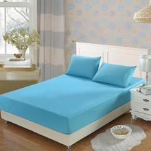 全棉纯色 活性印染纯棉床笠批发 床垫席梦思保护套单品 一件代发