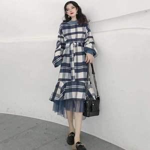 法式复古维多利亚山本超仙秋冬法国冬裙女过膝连衣裙18288,女装连衣裙,韩黛影