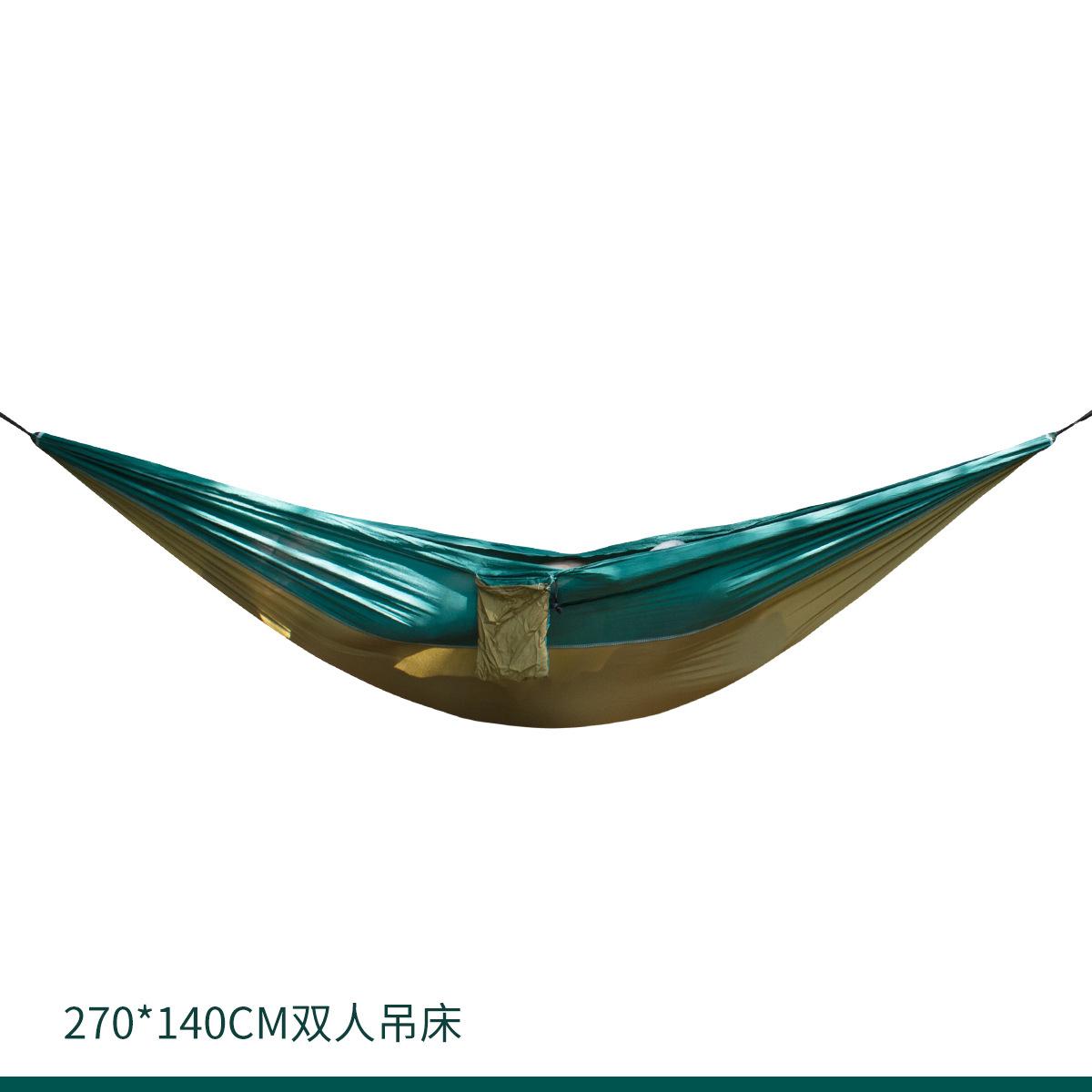 270*140双人吊床 亚马逊热卖尼丝纺 210T降落伞布吊床厂家直销